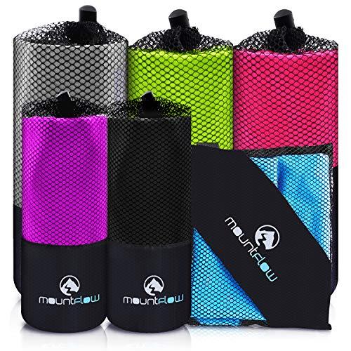 Fitness Mikrofaser Handtuch Schnelltrocknend Fitnessstudio Sporthandtuch - Reisehandtuch, Badetuch, Strandhandtuch mit Tasche - für Sport, Schwimmen, Yoga