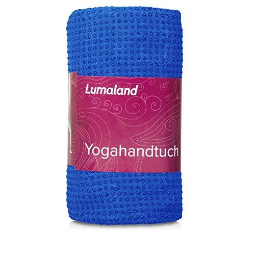 Lumaland Premium Mikrofaser Yoga Handtuch mit Antirutsch Noppen 60x180cm fŸr die Yogamatte verschiedene Farben Himmelblau
